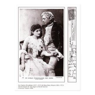 Actors Charles Wyndham & Mary Moore Postcard