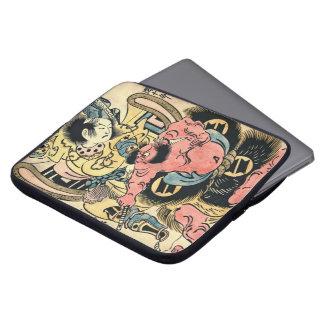 Actors Danjuro and Hangoro 1736 Laptop Sleeve