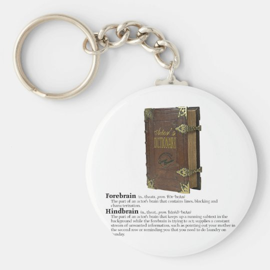 Actors' Dictionary - Brains Keychain
