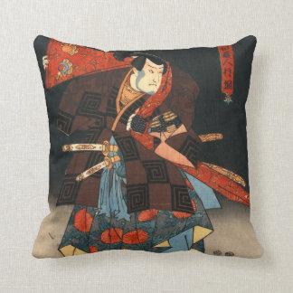 Actors Diptych 1847 Left Throw Pillow