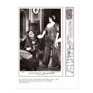 Actors Fred Terry & Julia Neilson Postcard