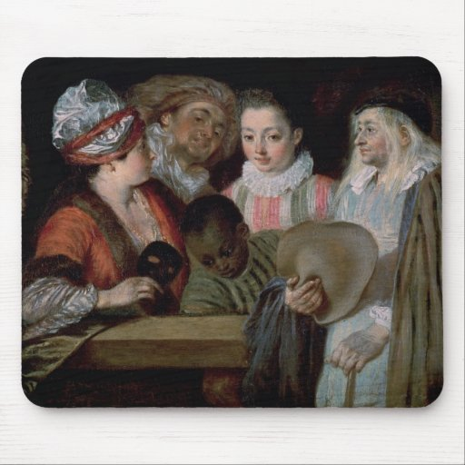 Actors from the Theatre Francais, c.1714-15 Mouse Pad