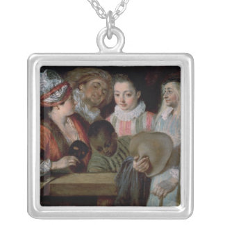 Actors from the Theatre Francais, c.1714-15 Silver Plated Necklace