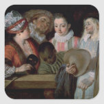 Actors from the Theatre Francais, c.1714-15 Square Sticker