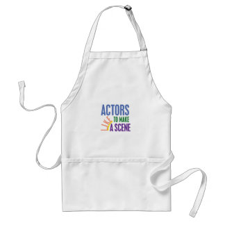 Actors Like to Make a Scene Adult Apron