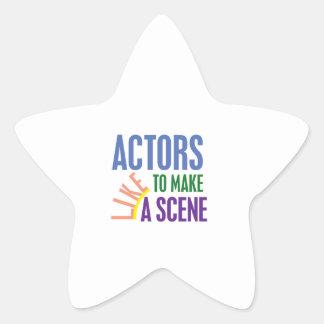 Actors Like to Make a Scene Star Sticker