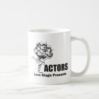Actors Love Stage Presents Classic White Coffee Mug
