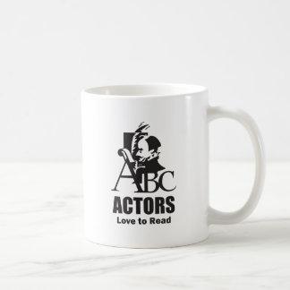 Actors Love to Read Classic White Coffee Mug