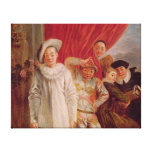 Actors of the Comedie Italienne Stretched Canvas Prints