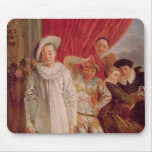Actors of the Comedie Italienne Mouse Pad