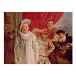 Actors of the Comedie Italienne Postcard