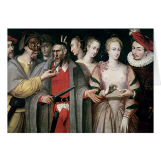 Actors of the Commedia dell'Arte Card