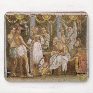 Actors rehearsing for a Satyr play, c.62-79 AD Mouse Pad