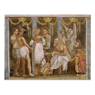 Actors rehearsing for a Satyr play, c.62-79 AD Postcard
