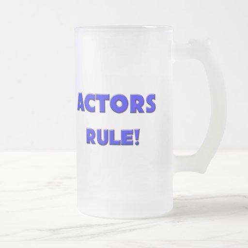 Actors Rule! 16 Oz Frosted Glass Beer Mug