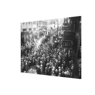 Actors Strike on 45th Street in New York Canvas Print