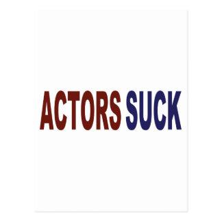 Actors Suck Postcard