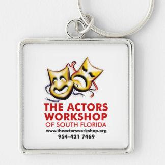 actorsworkshop_keychain llavero cuadrado plateado
