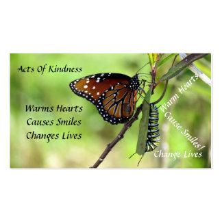 Actos al azar de la mariposa de la reina de la tarjetas de visita