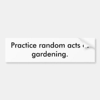 Actos al azar de la práctica de cultivar un huerto pegatina para auto