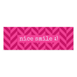 Actos al azar de la tarjeta de la sonrisa de la tarjetas de visita mini