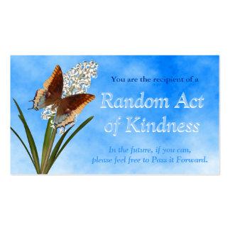 Actos al azar de las tarjetas de la amabilidad plantillas de tarjetas de visita