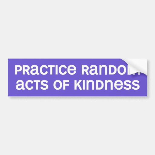 actos de la amabilidad pegatina de parachoque
