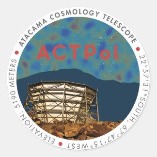 ACTPol CMB Logo Sticker