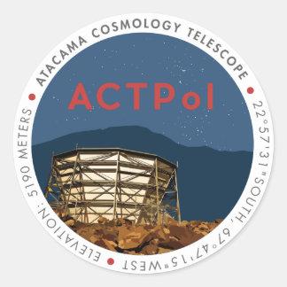 ACTPol Logo Sticker