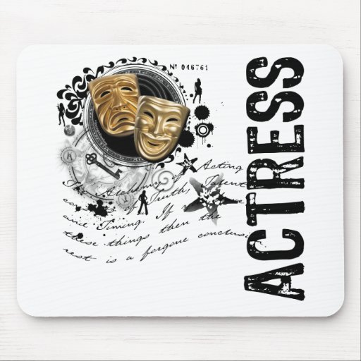 Actress Alchemy of Acting Mouse Pads