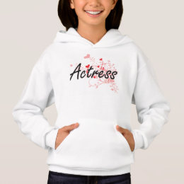 Actress Artistic Job Design with Hearts Hoodie