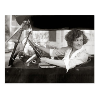 Actress Behind the Wheel, 1921 Postcard