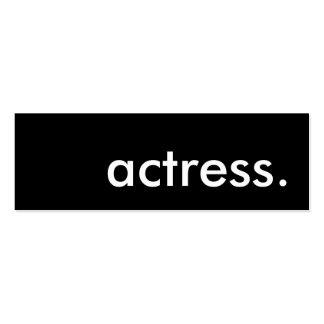 actress. Double-Sided mini business cards (Pack of 20)