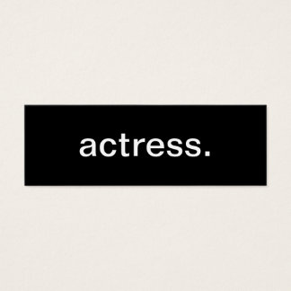 Actress Business Card