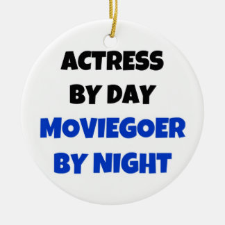 Actress by Day Moviegoer by Night Double-Sided Ceramic Round Christmas Ornament