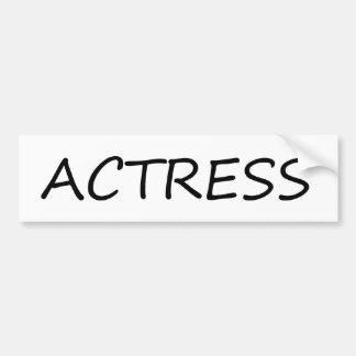 Actress Car Bumper Sticker