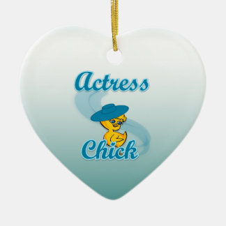 Actress Chick #3 Christmas Tree Ornaments