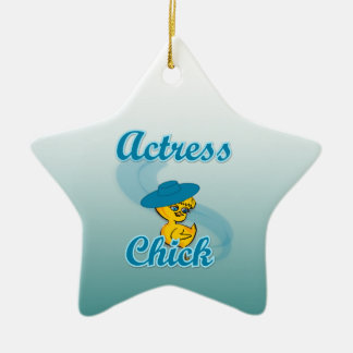 Actress Chick #3 Christmas Tree Ornament