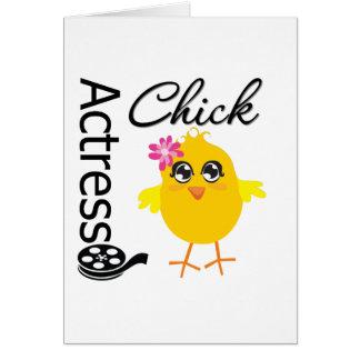Actress Chick Card