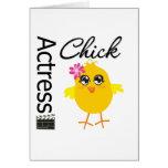 Actress Chick Greeting Card
