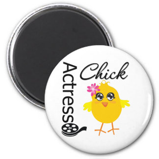 Actress Chick 2 Inch Round Magnet