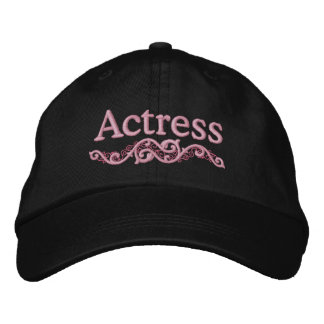 Actress Custom Embroidered Hat