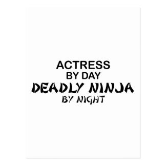 Actress Deadly Ninja by Night Postcard