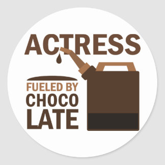 Actress Gift Chocolate Classic Round Sticker