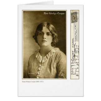 Actress Gladys Cooper Greeting Card