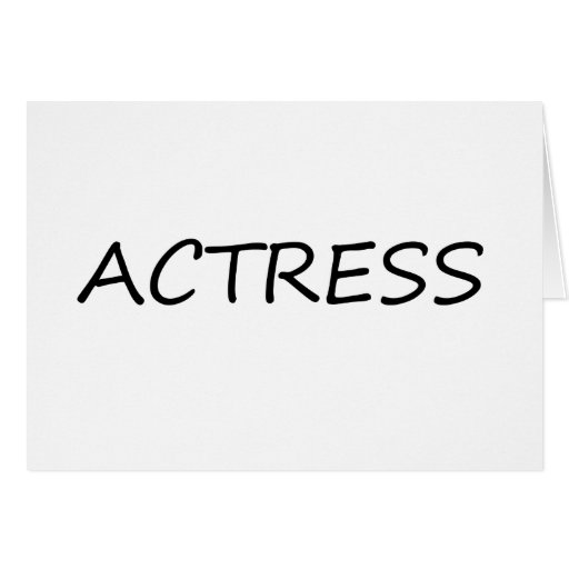 Actress Greeting Card