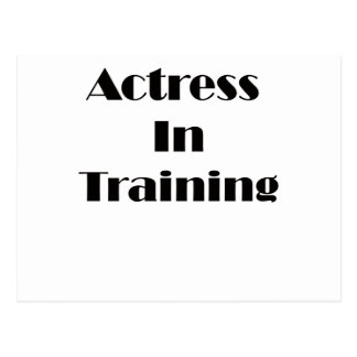 Actress in Training Postcard