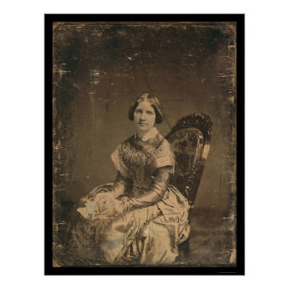 Actress Jenny Lind Daguerreotype 1848 Posters