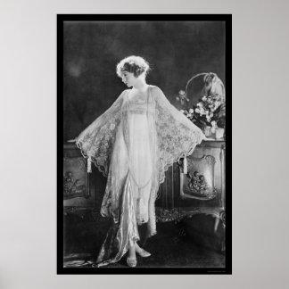 Actress Lillian Gish 1922 Print