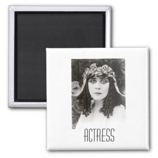 Actress 2 Inch Square Magnet